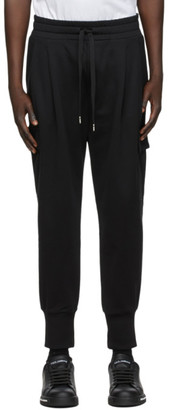 Dolce & Gabbana Black Embroidered Cargo Pants
