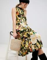 MBYM Dark Floral Midi Dress