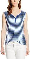 Armor Lux Women's Striped Sleeveless Vest - Blue -