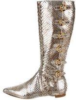 Oscar de la Renta Python Knee-High Boots