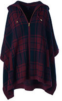 Classic Women's Wool Cashmere Poncho Sweater-Cherry Jam
