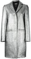 MSGM woven single breasted coat - women - Acrylic/Polyamide/Viscose/Wool - 40