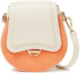 Emilio Pucci Printed Leather And Suede Shoulder Bag