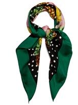 Dolce & Gabbana Pineapple and polka-dot print silk scarf