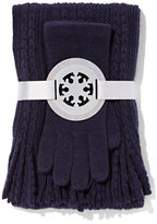 New York & Co. 2-Piece Cable-Knit Scarf & Gloves Set