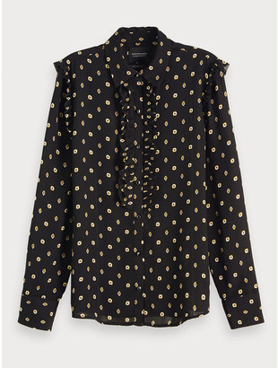 Maison Scotch Printed Blouse Black - Size S