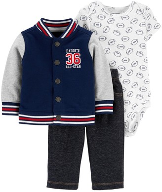 Carter's Baby Boy 3-Piece Varsity Little Jacket Set