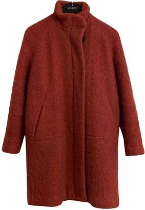 Samsoe & Samsoe Pink Wool Coat for Women