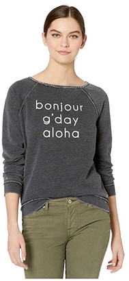 Roxy Pacific Highway C Pullover Fleece (Anthracite) Women's Clothing