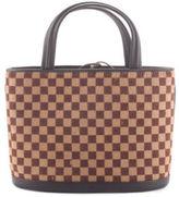 Louis Vuitton Brown Checkered Calf Hair Sauvage Impala Handbag BC1322 MHL