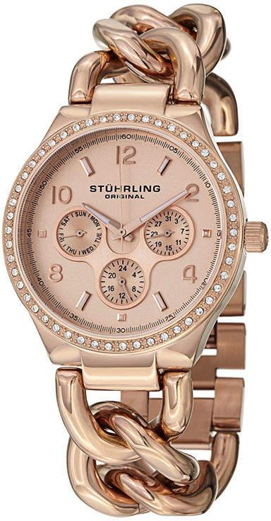 Stuhrling Original Womens Rose Goldtone Bracelet Watch-Sp14838