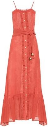 Lisa Marie Fernandez Ruffled linen-blend gauze maxi dress