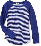 Old Navy Long & Lean Thermal Raglan Tee for Girls