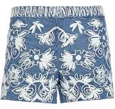 Alice + Olivia Alice+olivia Embroidered Cotton Shorts