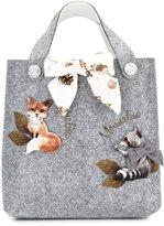 MonnaLisa animal applique Bimba Country handbag