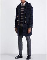 Boglioli Checked wool-blend duffel coat