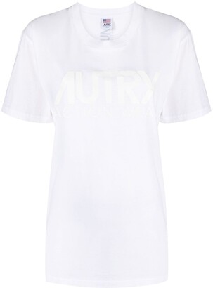AUTRY double logo print T-shirt
