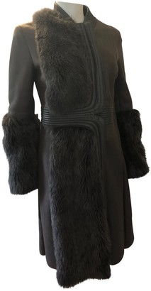 Porsche Design Grey Shearling Coat for Women