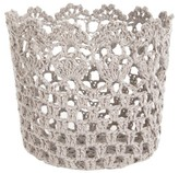 A&B Home Crochet Single Candle Holder - Grey
