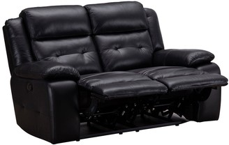 Martelle Real Leather/Faux Leather 2Seater Manual Recliner Sofa