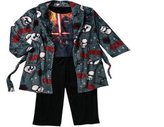 "SW Star Wars Big Boys Plush Robe Bathrobe & Pajama Set ""Storm Trooper "" Sleepwear"