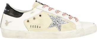 Golden Goose Superstar Leather-Trimmed Canvas Sneakers
