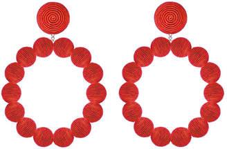 Suzanna Dai Sardegna Silk Hoop Drop Earrings