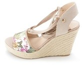 GUESS Women's Eylyna Lace Up Espadrille Wedge Sandals.