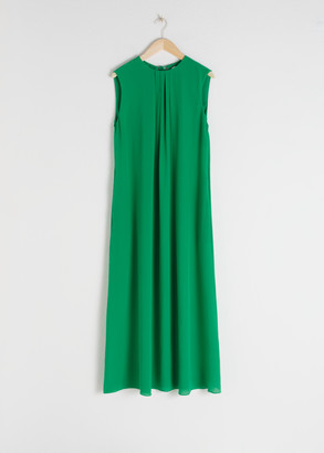 And other stories Sleeveless Silk Midi Dress