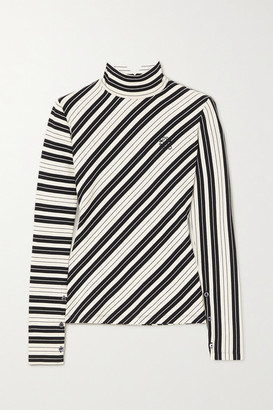 Loewe Striped Cotton-blend Jersey Turtleneck Top
