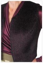CarolAnn Wachter Alpaca Vest in Plum