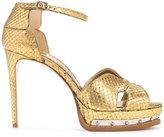 Alexander McQueen hobnail platform sandals - women - Lamb Skin - 37