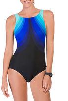 Reebok Aqua Angek Scoopback One-Piece Swimsuit