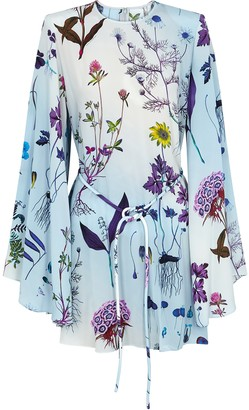 Stella McCartney Delia floral-print silk mini dress