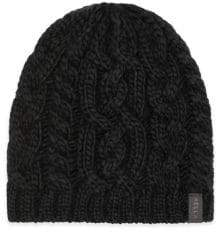 Rella Cable-Knit Merino Beanie