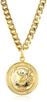 Kenzo Gilt Tiger Cyclop Necklace