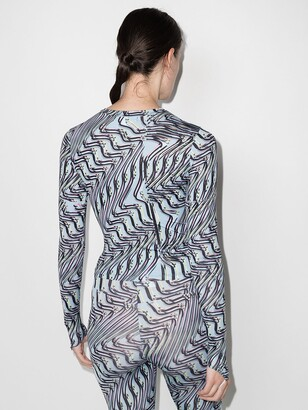 MAISIE WILEN Body Shop finger-loop printed top