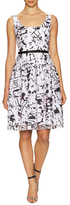 Milly Natalie Cotton Print Cocktail Dress
