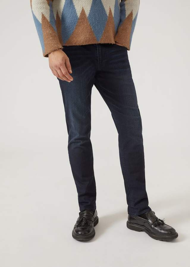 Emporio Armani J06 Dark Wash Comfort Denim Slim Fit Jeans