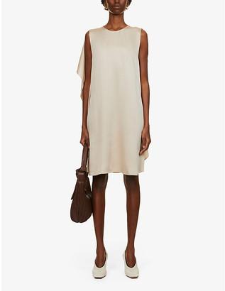Stella McCartney Mia sleeveless flared-panel satin mini dress