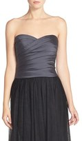 Women's Monique Lhuillier Bridesmaids Taffeta Pleat Sweetheart Neck Bustier
