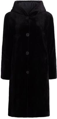 The Fur Salon Reversible Hooded Mink Fur Coat