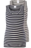 Dorothy Perkins Womens **Mamalicious Nursing Stripe Tank Top 2 Pack- Multi