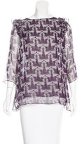 Thomas Wylde Silk Printed Top