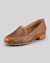 Sesto Meucci Alice Woven Leather Loafer, Camel