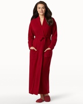 Soma Intimates Long Cashmere Robe Bordeaux