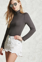 Forever 21 FOREVER 21+ Micro-Ribbed Turtleneck Top