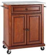 Crosley Stainless Steel Top Portable Kitchen Cart/Island