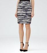 Reiss Odell Jacquard Pencil Skirt