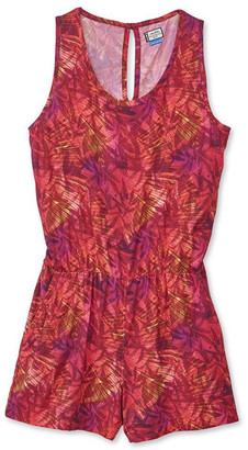 Kavu Women's Rompers Coral - Coral Flash Abstract Sleeveless Landry Romper - Women